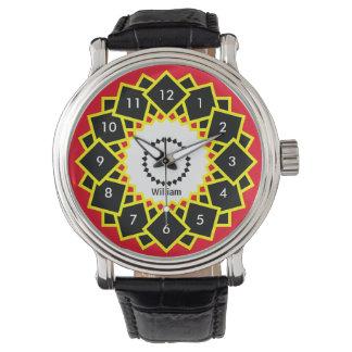 Djärvt och ljust geometriskt kvadrerar din kända armbandsur