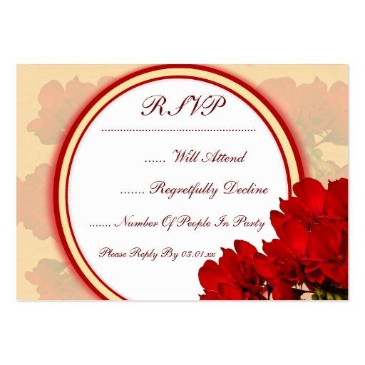 Djärvt rött gifta sig för blommor visitkort mall