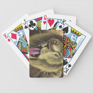 Djärvt som lejona leka kort spelkort