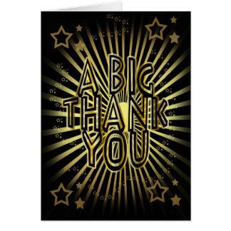 Djärvt tackkort - ett stort tack - hälsningskort