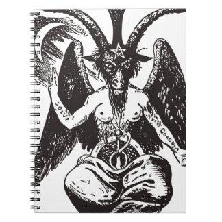 Djävulen Anteckningsbok Med Spiral
