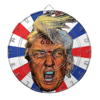 Djävulen för mun för Anti presidenttrumf stor Darttavla
