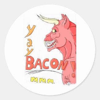 Djävulen hund… runt klistermärke