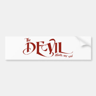Djävulen önskar min soul bildekal