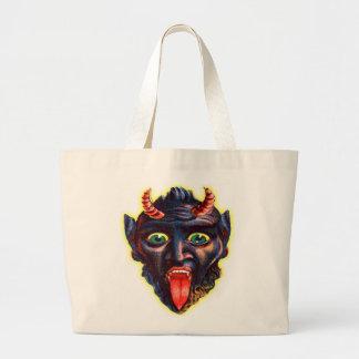 Djävulen Satan Lucifer för Halloween Retro vintage Jumbo Tygkasse