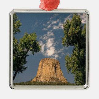 Djävulen torn, Wyoming, USA Julgransprydnad Metall