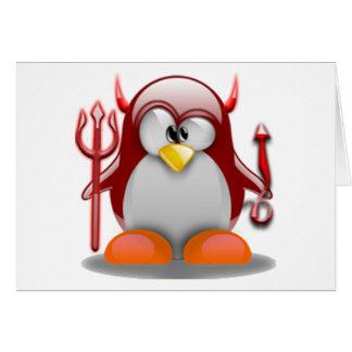 DjävulenTux (Linuxtuxen) Hälsningskort