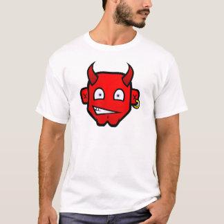 Djävulsk djävulen - stort huvud t-shirts