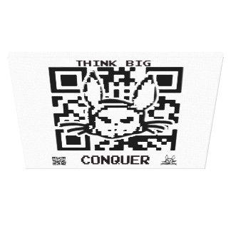 Djävulsk kanin Elsby QR kodifierar Canvastryck
