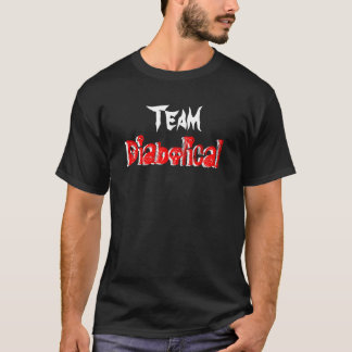 Djävulskt lag - mörk tee shirts