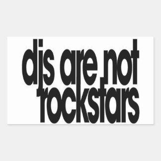 Djs är inte Rockstars Rektangulärt Klistermärke