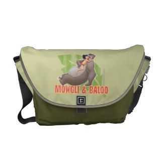 Djungelbok Mowgli och Baloo krama Kurir Väska