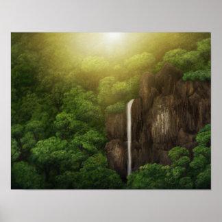 DjungelCanopy - för konstaffisch för vattenfall 11