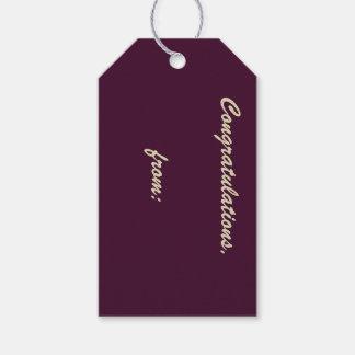 Djup Aubergine-Färgad gåvamärkre 10-Pack Presentetikett