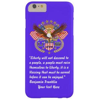 Djup Azure för patriotisk fredskog Barely There iPhone 6 Plus Skal