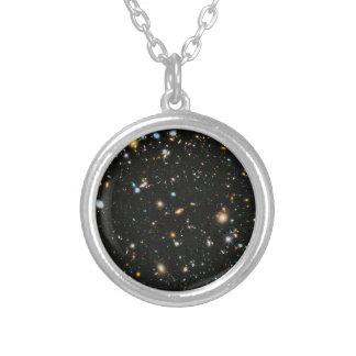 Djupa fältgalaxer för NASA Hubble Ultra Silverpläterat Halsband