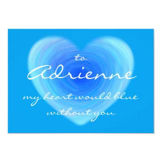 Djupblå kärlek för valentin för 12,7 x 17,8 cm inbjudningskort