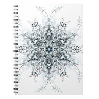 Djupfryst blåklockor anteckningsbok