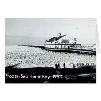 Djupfryst hav på den Herne fjärden - Kent -1963 Hälsningskort