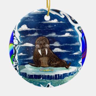 djupfryst middagwalrs julgransprydnad keramik
