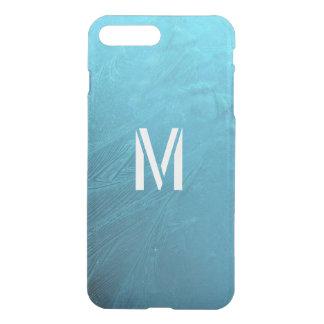 Djupfryst Monogram initialt M för blått för iPhone 7 Plus Skal