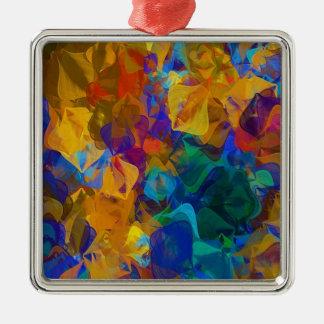 Djupt abstrakt mönster julgransprydnad metall