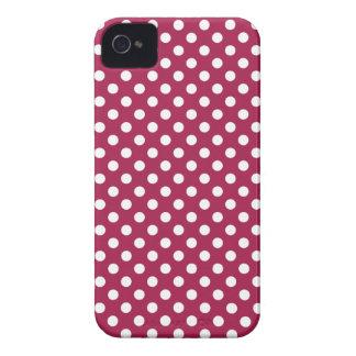 Djupt - den röda polkaen pricker blackberry iPhone 4 fodraler