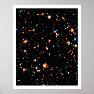 Djupt fält för Hubble ytterlighet Poster