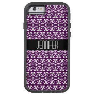 Djupt - geometriskt diamantmönster för lilor och tough xtreme iPhone 6 fodral