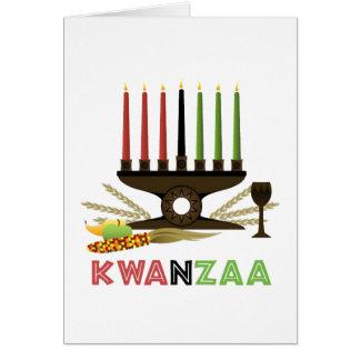 Djupt i tradition Julhälsningar Kwanzaa kort