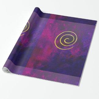 Djupt - lilor och guld- modern abstrakt presentpapper