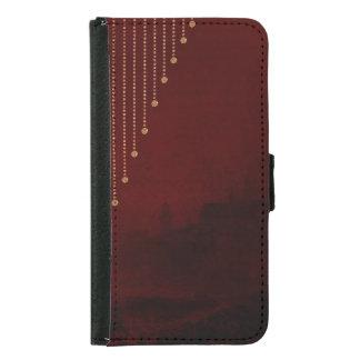 Djupt - mörkt slott för röd stad för plånboksfodral för samsung galaxy s5