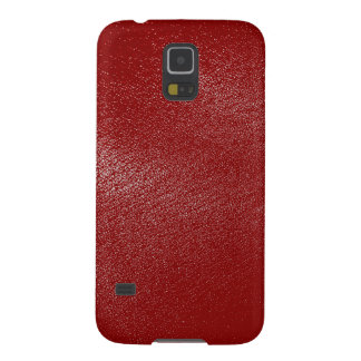 Djupt - röd läderLook Galaxy S5 Fodral