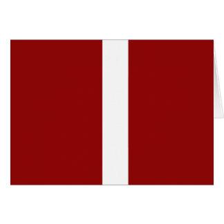 Djupt - röd och vitrandmönster hälsningskort