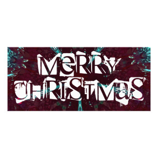 Djupt - röd turkosgod julKaleidoscope Reklamkort