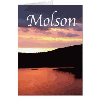 Djupt röda av Molson sjösoluppgång Hälsningskort