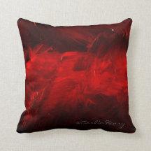 Djupt - röda dekorativa kudder