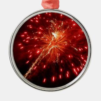 Djupt - rött julgransprydnad metall