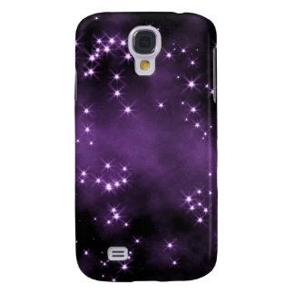Djupt utrymme - mörk lila - stjärnor galaxy s4 fodral