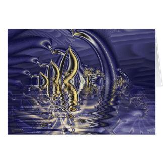 djupt vatten hälsningskort