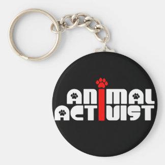 Djur aktivist nyckelring