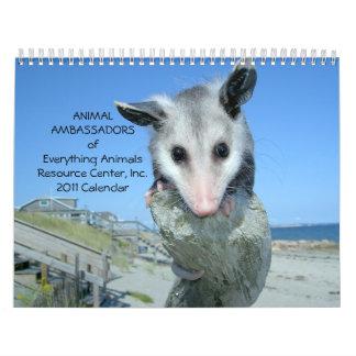 Djur ambassadörväggkalender 2011 kalender
