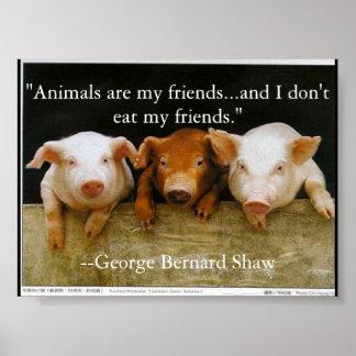 djur är min vänner poster