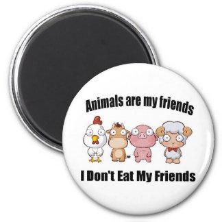 Djur är min vänner magnet rund 5.7 cm
