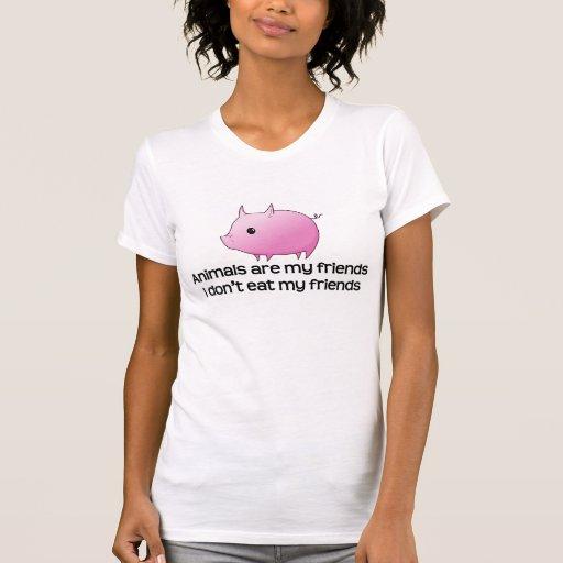 Djur är min vänner som jag inte äter min vänner t-shirt