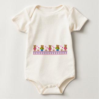 Djur bebist-skjorta med björnar och polkadots sparkdräkt