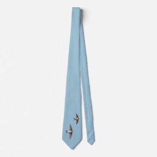 Djur fågelträdsvala och ladugårdsvala slips