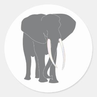 Djur för däggdjur för runt klistermärke