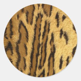Djur för halv liter för Leopard exotiskt Runt Klistermärke