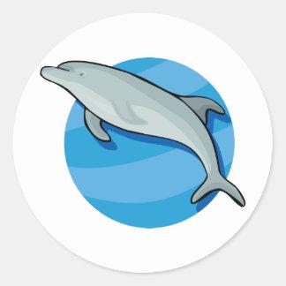 Djur för hav för blått för däggdjur för runt klistermärke